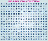 Collection of 285 universal icons and symbols for web and mobile, vector