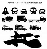 Vector Transportation Illustration Set