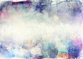 picture of acrylic painting  - abstract ink painting with brush strokes  - JPG