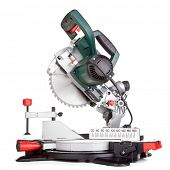 Power chop saw on white background