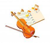 vector icon violin