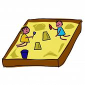 Childs Playing In A Sandpit