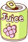 A vector illustration of juice in metal can