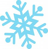 image of symmetry  - Vector illustration of a snowflake - JPG