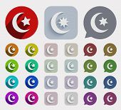 Vector flat ramadan icons set