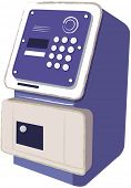 picture of automatic teller machine  - Vector illustration of a Telephone or ATM  - JPG