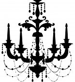 Vector illustration of a Chandelier