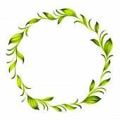 Decorative Circle Branch Of Green Tea