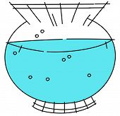 Vector illustration of a fishbowl