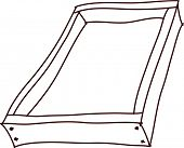 Vector illustration of an empty drawer