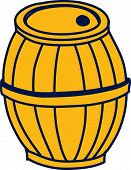 Vector illustration of a wooden pail