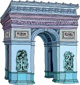 Vector illustration of a triumphal arch