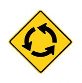 road sign - roundabout