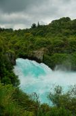 Wild Rapids of Huka Falls, Taupo, New Zealand