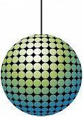 Vector illustration of disco ball