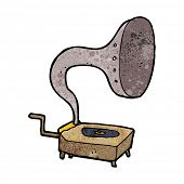 cartoon gramophone