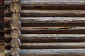 pic of log fence  - Abstract background of old logs - JPG