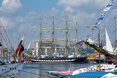 Varna, Bulgaria, May 1, 2014: International Regatta SCF BLACK SEA TALL SHIPS REGATA 2014, Varna, Bul