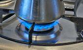 Pan On A Gas Burner