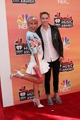 LOS ANGELES - MAY 1:  Chelsea Kane, Brian Logan Dales at the 1st iHeartRadio Music Awards at Shrine
