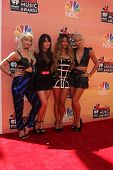 LOS ANGELES - MAY 1:  Lauren Bennett, Natasha Slayton, Emmalyn Estrada, Paula Van Oppen at the 1st iHeartRadio Music Awards at Shrine Auditorium on May 1, 2014 in Los Angeles, CA