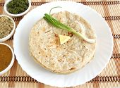 stock photo of sorghum  - Roti or flat bread made from sorghum  - JPG