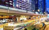 HongKong downtown busy traffic night, kwun tong