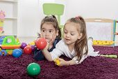Little Girls In The Playroom