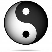 stock photo of ying yang  - Yin - JPG
