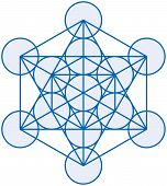 stock photo of cube  - Metatrons Cube is a powerful symbol - JPG