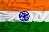 India flag on a silk drape waving