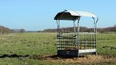 foto of manger  - Manger in field in South East Drenthe Holland - JPG