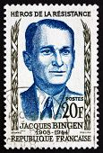 Postage Stamp France 1958 Jacques Bingen, Hero