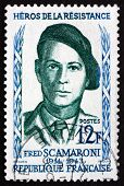 Postage Stamp France 1958 Fred Scamaroni, Hero