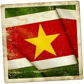 stock photo of suriname  - This is an illustration of flag of Suriname - JPG