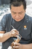 Traditional Hopi Kachina Doll Artist at Work