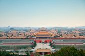 Aerial view of Imperial Palace in Beijing, China.