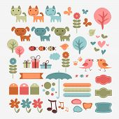 Cute Babyish Scrapbook Elements