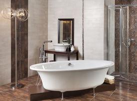 pic of cheeky  - interior of a modern bathroom and bathtub - JPG