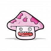 stock photo of toadstools  - toadstool cartoon  - JPG