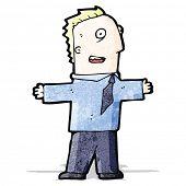 cartoon excited businessman
