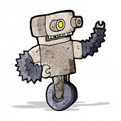 cartoon old robot