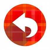 back red flat icon isolated