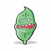 cartoon nervous leaf