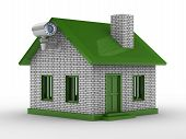 Security Camera On House. Isolated 3D Image