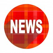 news red flat icon isolated