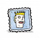 cartoon postage stamp