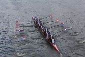 Cambridge Boat Club races in the Head of Charles Regatta Men's Championship Eights