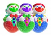 Roly-poly Toy Clowns