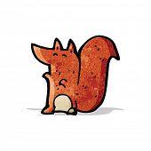 cartoon red squirrel